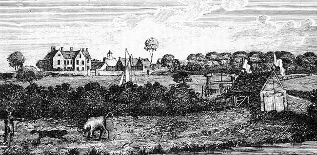 "Beesthorpe Hall, ""Seat of Sir Samuel Bristowe, Esq."" in 1796."