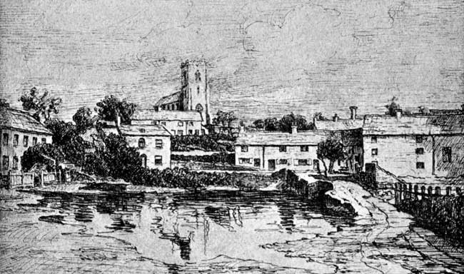 Bulwell from the Market Place — circa 1860.