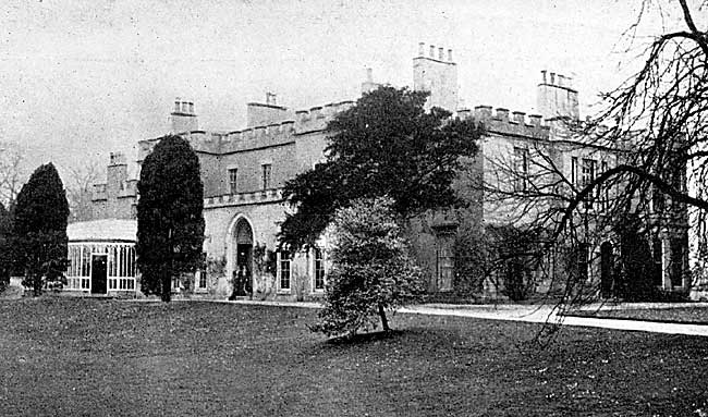 Chilwell Hall, c.1900. The house was demolished in the 1930s and modern housing now occupies the site. The original boundary wall to the grounds, however, survives.
