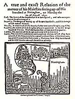 Parliamentarian pamphlet on the Raising of the Standard in 1642