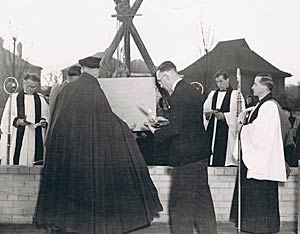 Laying the foundation stone of the new church, Colwick on the Hill.