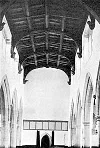 East Bridgford church, nave looking west.