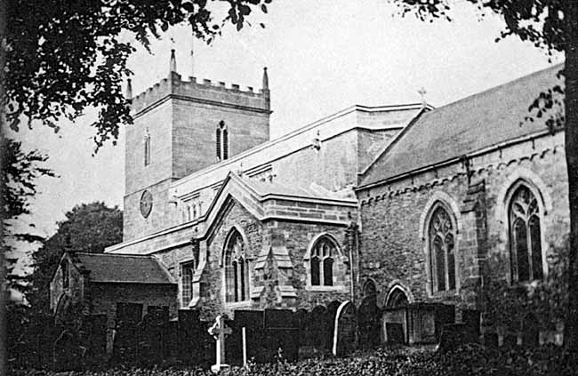 East Bridgford church after restoratiion in 1914.