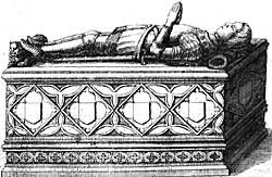 Monument to Sir Henry Pierrepont (died 1499) as it appeared in 1676.