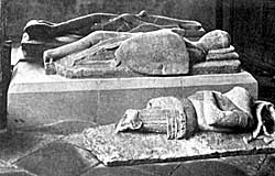 Everingham tombs in LAxton church.