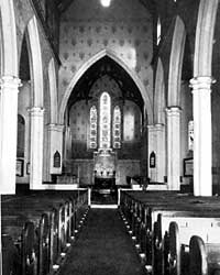 Interior of parish church.