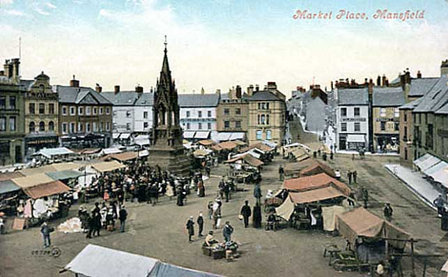 Mansfiedl market place, c.1910
