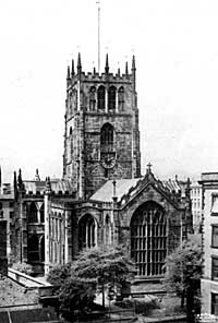 The exterior of St Mary's looking west.
