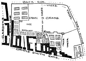 Map of Thurland Hall
