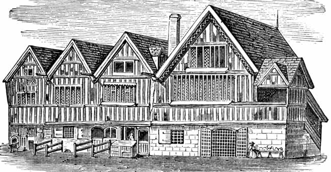 Drawing of the Old Guild Hall in 1741