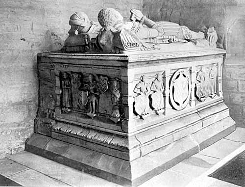 The Armstrong tomb (1562), Wysall church.