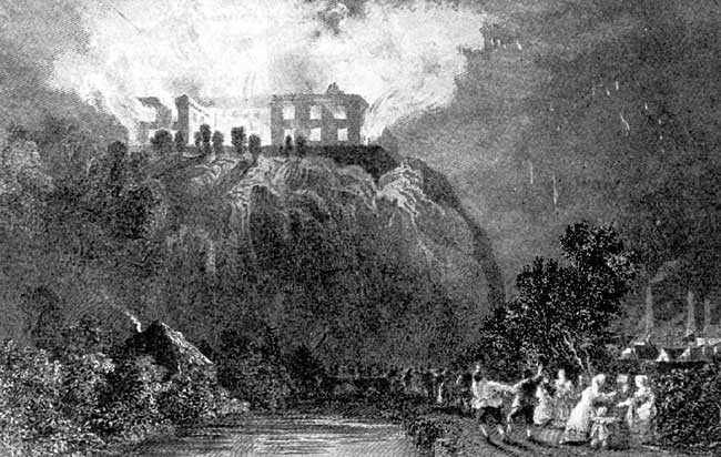 Nottingham Castle, by Thomas Allom.