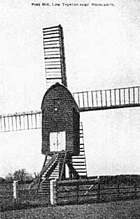 Fig 2. Post mill, Toynton, Lincs. (now destroyed).