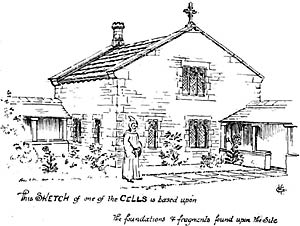 Beauvale Priory. Sketch of monk's cell.