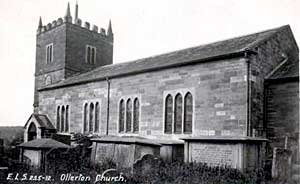 Ollerton church, c.1910.