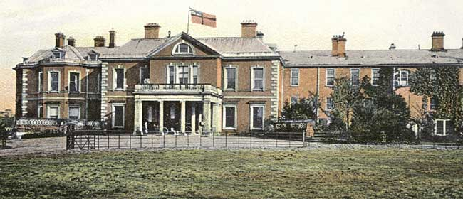 The north front of Osberton Hall, c1905.