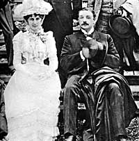The 6th Duke of Portland with the Duchess in 1889.