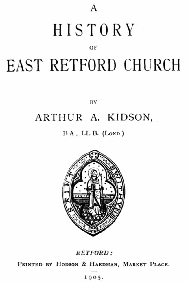 Title page of The History of East Retford Church (1905)