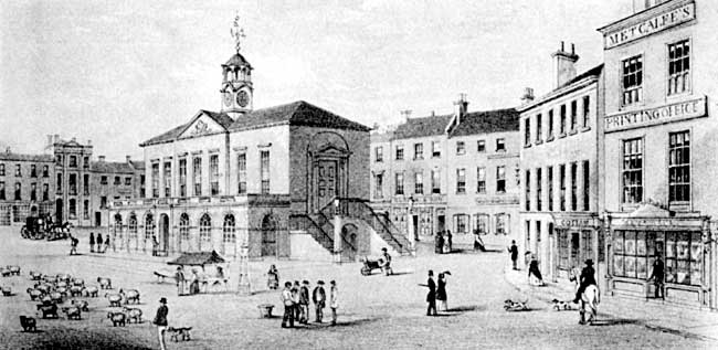 The old town hall, Retford, c.1848..