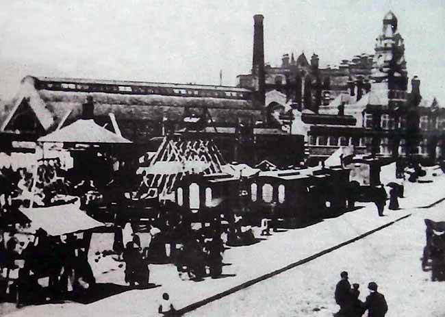 Sneinton Market in the 1890's . (photograph by courtesy of the Local Studies library)