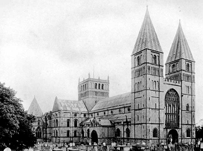 Southwell Minster — view from the north-west.