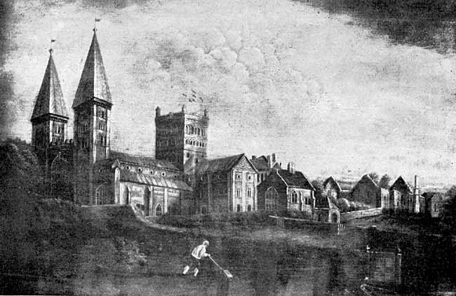 Southwell Minster, from a painting by John Mason, about 1822.