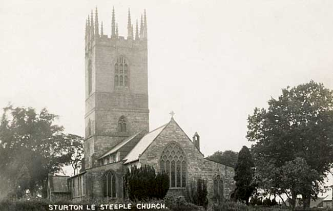 Sturton-le-Steeple Church in the 1930s.