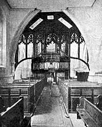 Tuxford church (interior prior to 1877).