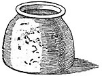 Drawing of an acoustic pot at Upton church
