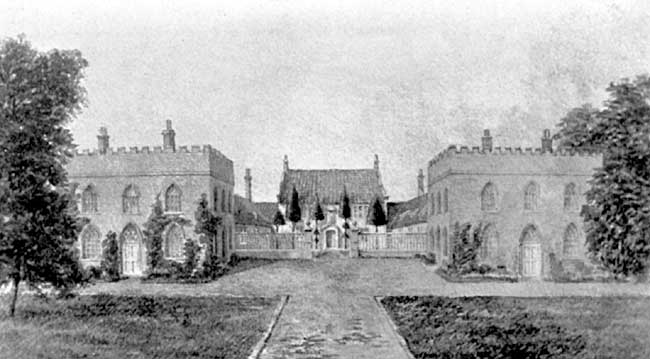 THE OLDE HALL OF THE MANOR OF WEST RETFORD. Tempo Queen Elizabeth: but shewing the additional Wings added in A.D. 1795.