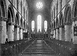 Interior of Worksop Priory church.