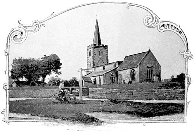 Wysall church, c.1900.
